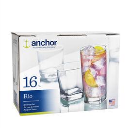 Anchor Rio Glassware Set - 16 piece