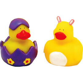 Easter Light-Up Rubber Ducks - Assorted - 2.5""