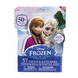 Disney Frozen Tattoo & Sticker Pack - 50's