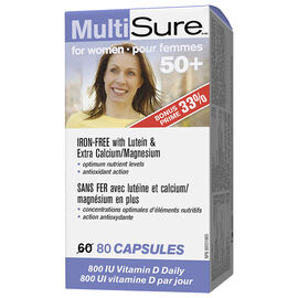 Webber MultiSure 50+ MultiVitamin & Mineral Supplement - Women - 60's