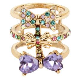 Betsey Johnson Bow Ring - Multi