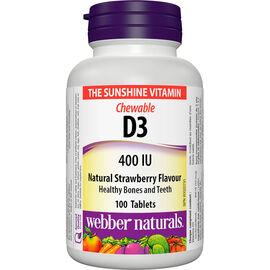 Webber Naturals Vitamin D3 - Chewable Strawberry - 100's