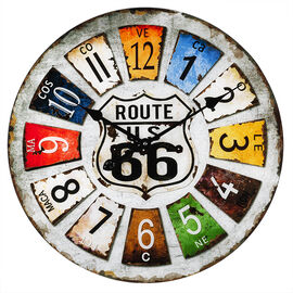 London Drugs Glass Wall Clock - Route 66