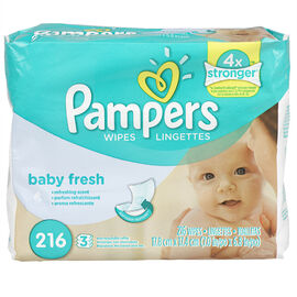 Pampers Wipes Refills - Baby Fresh - 216's