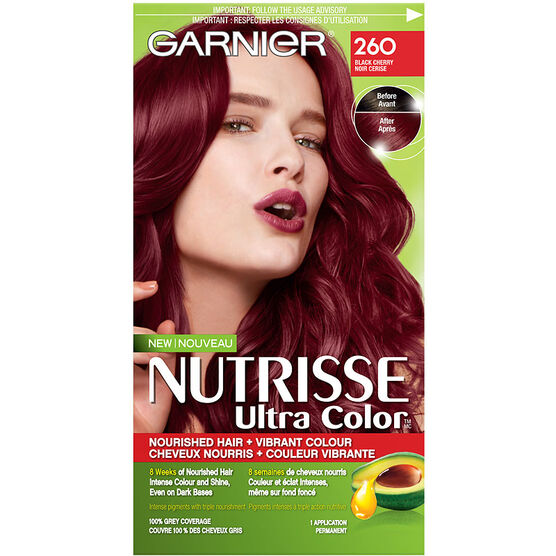 garnier nutrisse ultra color permanent hair colour 260 black cherry - Hair Color Black Cherry