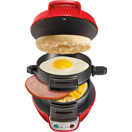 Hamilton Beach Breakfast Sandwich Maker - Red - 25476C