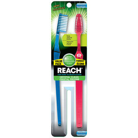 Reach Crystal Clean Toothbrush - Medium - 2's