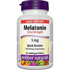 Webber Naturals Extra Strength Melatonin - Easy Dissolve - 5mg - 60's