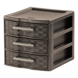 Sterilite Weave Drawer - Espresso - Small 3 Drawer