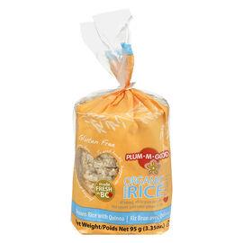 Plum-M-Good Organic Brown Rice Cakes - Brown Rice with Quinoa - 95g