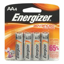 Energizer Advanced Alkaline AA Batteries - 4 pack
