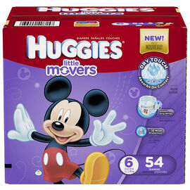 Huggies Little Movers Disposable Diaper - Size 6 - 54's