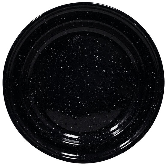 Enamel Camping Plate - Black - 10in