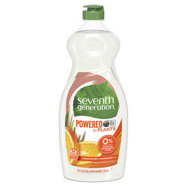Seventh Generation Natural Dish Liquid - Lemongrass & Clementine Zest - 739ml