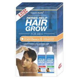 Herbs Help Hair Grow for Men 2-Step System - 2 x 250ml