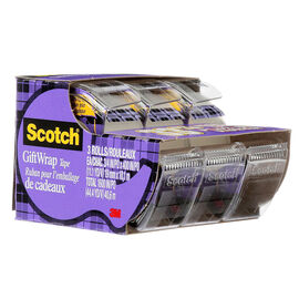 3M Scotch Gift Wrap Tape Pack - 3 rolls