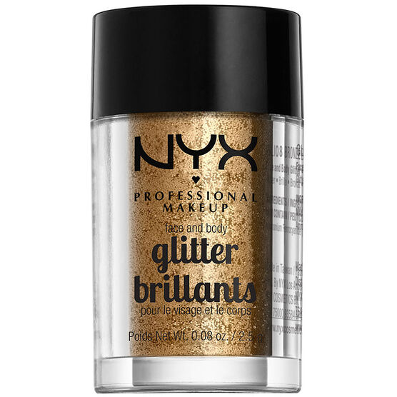 NYX Professional Makeup Face and Body Glitter - Bronze