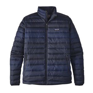M's Down Sweater Jacket, Distressed Stripe: Navy Blue (DTNB)