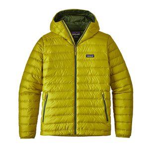 M's Down Sweater Hoody, Fluid Green (FLGR)
