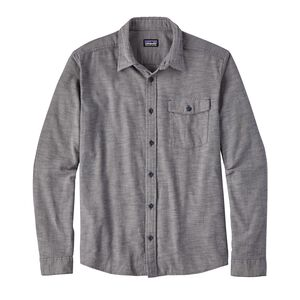 M's Long-Sleeved Lightweight Fjord Flannel Shirt, Chambray: Navy Blue (CBYN)