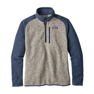 M's Better Sweater™ 1/4-Zip Fleece, Bleached Stone w/Dolomite Blue (BSDO)