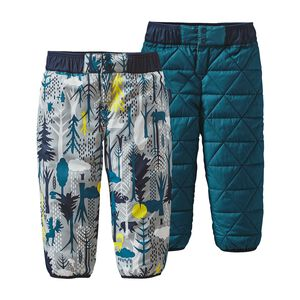 Baby Reversible Puff-Ball Pants, Pine Friends Big: Drifter Grey (PFBD)