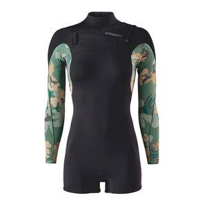 W's R1® Lite Yulex™ Front-Zip Long-Sleeved Spring Suit, Cloudbreak Small: Hemlock Green (CDHG)