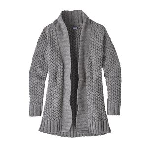 W'S OFF COUNTRY CARDIGAN, Feather Grey (FEA)