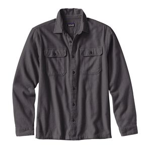M's Long-Sleeved Fjord Flannel Shirt, Forge Grey (FGE)