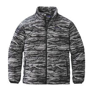 Boys' Down Sweater, Branch Camo: Feather Grey (BCFG)