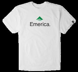 Emerica Skateboard Logo - WHITE/GREEN - hi-res