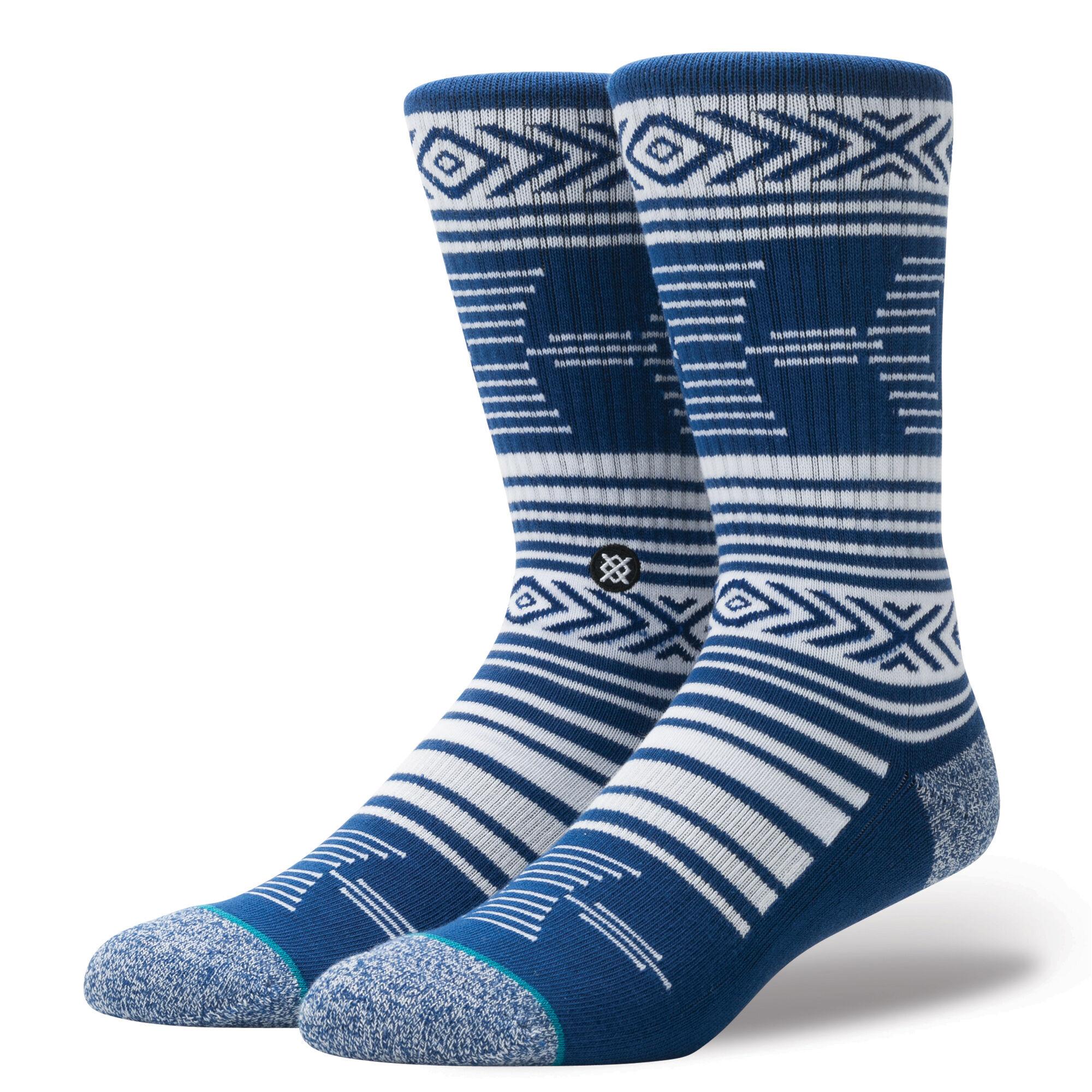 pair of blue and white Stance socks for men